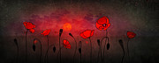 Poppies Field Digital Art - Opium Nocturne by Brandt Campbell
