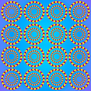 Illusional Prints - Optical Illusion Spinning wheels Print by Sumit Mehndiratta