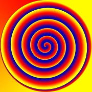 Optical Illusion Digital Art Posters - Optical illusion spiral Poster by Twilight Vision