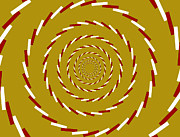 Spinning Digital Art - Optical Illusion Whirlpool by Sumit Mehndiratta