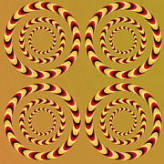 Illusional Prints - Optical Ilusions Summer Spin Print by Sumit Mehndiratta