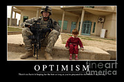 Optimism Inspirational Quote Print by Stocktrek Images