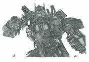 Prime Drawings Framed Prints - Optimus Prime Framed Print by Rich Colvin