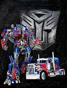 Scott Parker Metal Prints - Optimus Prime Metal Print by Scott Parker