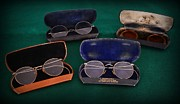 Exam Framed Prints - Optometrist - Old Glasses Framed Print by Paul Ward