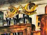 Optometrist - Spectacles Shop Print by Susan Savad