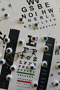 Eye Glasses Framed Prints - Optometrist - The Eye Chart Framed Print by Paul Ward