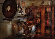 Vintage Care Framed Prints - Optometrist - The lens apparatus Framed Print by Mike Savad