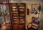 Furniture Prints - Optometrist - The Optometrists Office Print by Mike Savad