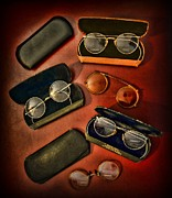 Specs Prints - Optometrist - Vintage Glasses Print by Paul Ward