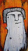 Charcoal Mixed Media Metal Prints - Or as Human As You Know It No 149 Metal Print by Mark M  Mellon