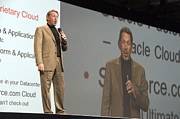 Chief Executive Officer Posters - Oracle CEO Larry Ellison Poster by Scott Lenhart