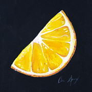Juicy Painting Posters - Orange Poster by Aaron Spong