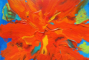 Denise Laurent - Orange Abstract Flower