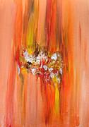 Julia Apostolova - Orange Abstract Landscape