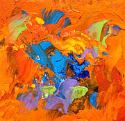 Denise Laurent - Orange and Blue Abstract