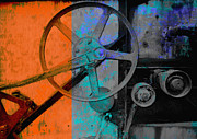 Manipulated Posters - Orange and Blue  Poster by Ann Powell