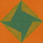 Michelle Calkins - Orange and Green Pinwheel