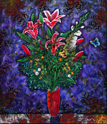 Andrew Osta - Orange And Purple Floral