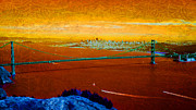 Bay Area Mixed Media - Orange Bay by Michelle Wilmot