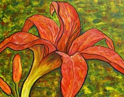 Day Lilly Prints - Orange Blossom Print by Jane Chesnut