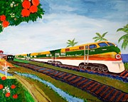 Key West Drawings - Orange Blossom Special by Bill Hubbard