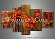 FabuArt - Orange Brown Flower...