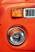 Old Truck Framed Prints - Orange Camper Van Framed Print by Mark Rogan