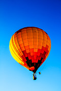 West Wetland Park Posters - Orange Checkered Hot Air Balloon Poster by Robert Bales