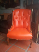 Basilio Prints - Orange Chippendale Chair Print by Unique Consignment