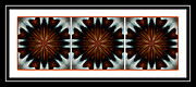 Repeat Patterns Digital Art Posters - Orange Chocolate Trio - Kaleidoscope - Triptych Poster by Barbara Griffin