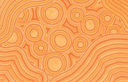 Oranges Drawings - Orange Color Burst by Jill Lenzmeier