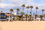 Southern Homes Posters - Orange County Beach Homes in Newport Beach California Poster by Paul Velgos