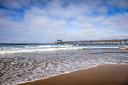 Sea Shore Prints - Orange County Newport Beach Pier Print by Paul Velgos