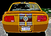 Carroll Shelby Photo Posters - Orange Crush Mustang Rear View Poster by Samuel Sheats