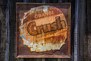 Old Signage Prints - Orange Crush Sign Print by Garry Gay