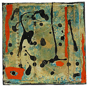 Montage Mixed Media - Orange Dance by Susan Parise