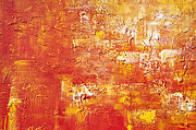 Painted Walls Prints - Orange Print by Delphimages Photo Creations