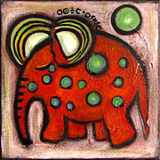 Rosemary Lim - Orange elephant with...