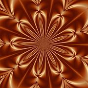 Orange Flower Burst Photoart Print by Becky Hayes