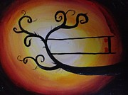 Swing Paintings - Orange Glow 1 by Kimberly Cartier