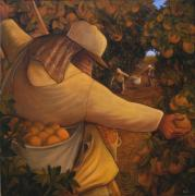 Thomas Benton Posters - Orange Grove Poster by Eric Bellis