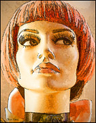 Staley Art Mixed Media Originals - Orange Hair by Chuck Staley