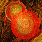 Candy Digital Art - Orange Hard Candy Abstract by Andee Photography
