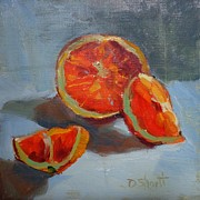 Orange Intense Print by Donna Shortt