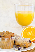 Orange Juice Prints - Orange Juice Breakfast Print by Christopher and Amanda Elwell