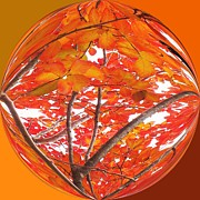 Photos Of Autumn Prints - Orange Leaves Print by Scott Cameron
