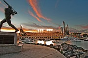 Baseball Park Metal Prints - Orange October 2012 Celebrates The San Francisco Giants Metal Print by Jorge Guerzon