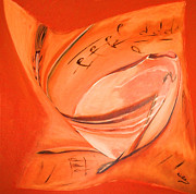 Hall Ceramics Posters - Orange Pillow Poster by Gabriele Mueller