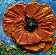 Print Of Poppy Metal Prints - Orange Poppy III Metal Print by Paris Wyatt Llanso
